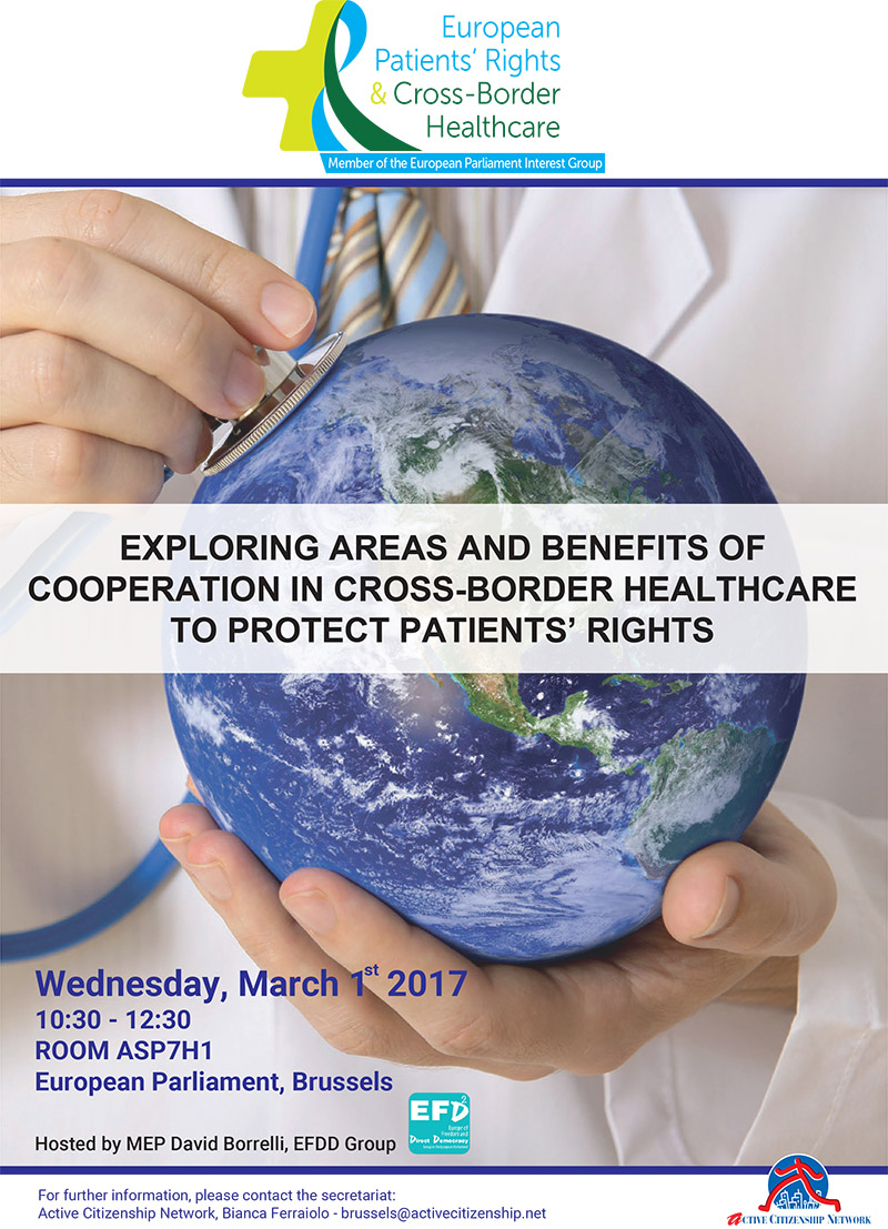 1st march 2017 exploring areas and benefits of cooperation in cross border healthcare to protect patients rights copertina