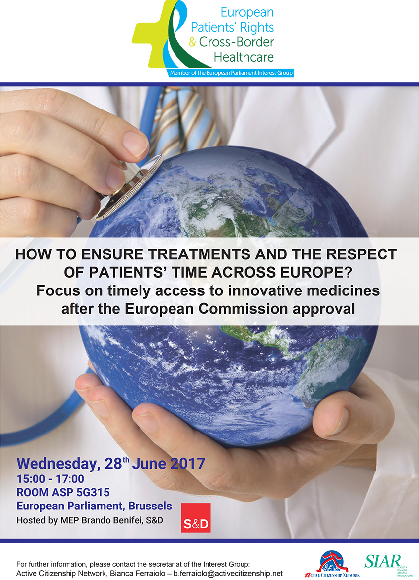 28th june 2017 how to ensure treatments and the respect of patients time across europe focus on timely access to innovative medicines after the european commission approval